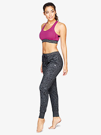 Womens Cuffed Satellite Print Workout Pants