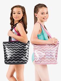 Sequin Chevron Tote Bag