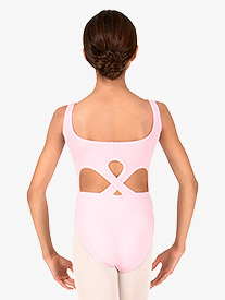 Girls Open Back Tank Leotard