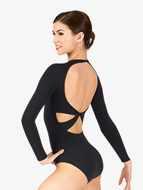 Adult Twist Back Long Sleeve Leotard