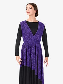 Womens Plus Size Lace Overlay Worship Dress