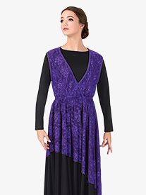 Womens Plus Size Lace Overlay Worship Dress