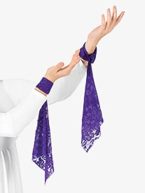 Womens Lace Worship Wrist Drape