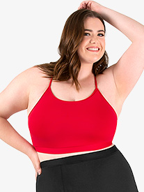 Womens Plus Size Team Basic SilkTech Camisole Bra Top