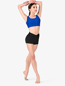 Womens Team Basic Compression V-Front Dance Shorts