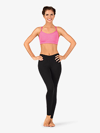 Womens Team Basic Compression Dance Legging