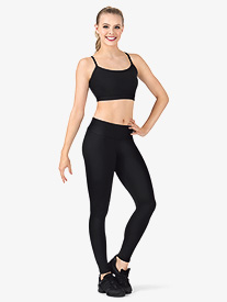 Womens Team Basic Compression High Waist Dance Legging