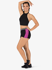 Womens Team Contrast Compression Shorts