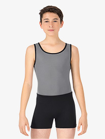 Boys Two-Tone Dance Tank Shorty Unitard
