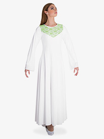 Womens Bell Sleeve Worship Dress