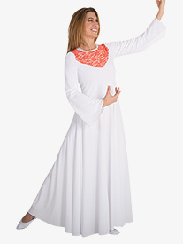 Womens Plus Bell Sleeve Worship Dress