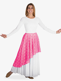 Womens Asymmetrical Lace Worship Skirt