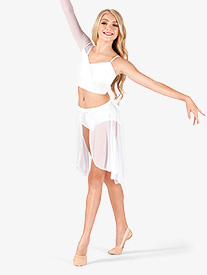 Adult Mid Length Mesh Dance Skirt