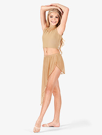 Adult Asymmetrical Drape Dance Skirt