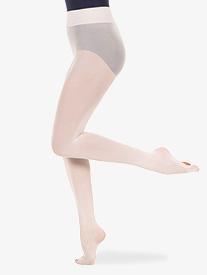 Womens Nylon Smooth Waist Convertible Dance Tights