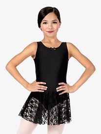 Girls Sweet Lace Tank Dress