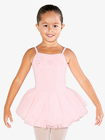 Girls Embroidered Butterflies Camisole Ballet Tutu Dress