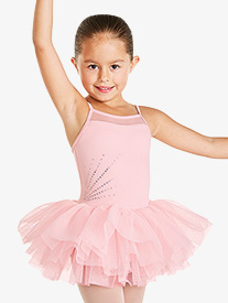 Girls Rhinestone Camisole Tutu Dress