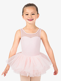 Girls Studded Pearl Ballet Tutu Dress