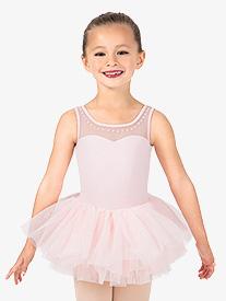 Girls Studded Pearl Ballet Tutu Dress