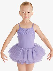 Girls Glitter Bow Camisole Ballet Tutu Dress