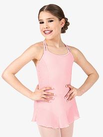 Girls Heart Mesh X-Back Camisole Ballet Dress