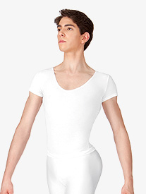 Mens Cotton Short Sleeve Thong Leotard