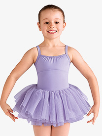 Girls Diamond Heart Mesh Camisole Ballet Tutu Dress