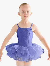 Girls Embroidered Camisole Ballet Tutu Dress