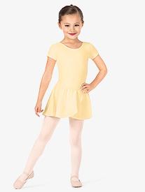 Girls Basic Georgette Mock Wrap Skirt