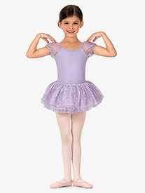 Girls Mallory Flower Sequin Tulle Tutu