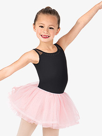Girls Studded Pearl Trim Tutu