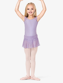 Girls Sheer Heart Mesh Ballet Skirt