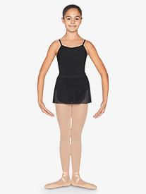 Girls Flock Mesh Wrap Pull-On Ballet Skirt
