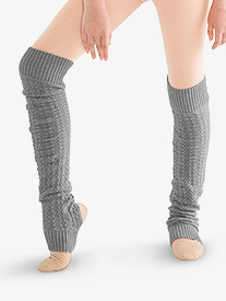 Girls Cable Knit Stirrup Legwarmers
