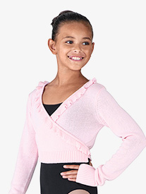 Girls Nyos Scalloped Long Sleeve Sweater