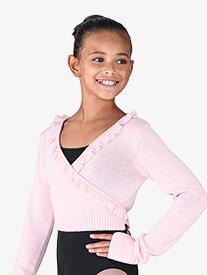 Girls Nyos Scalloped Long Sleeve Sweater