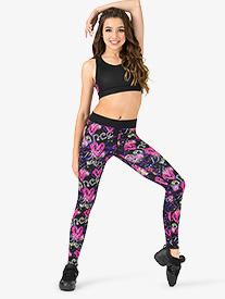Adult Sublimated Floral Legging