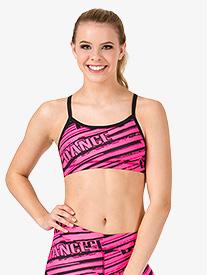 Adult Sublimated Dance Camisole Bra Top
