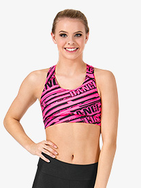 Adult Sublimated All-Over Dance Racer Bra Top