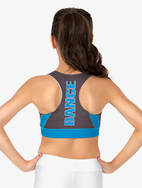 Adult Sublimated Solid Dance Racer Bra Top