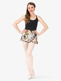 Womens Floral Print Ballet Wrap Skirt