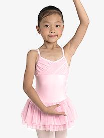 Girls Glitter Chiffon Camisole Ballet Dress