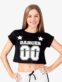 Adult Mesh Dancer Jersey Crop Top