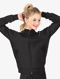 Womens Team Zip Up Long Sleeve Jacket