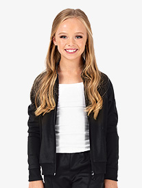 Girls Team Zip Up Long Sleeve Jacket