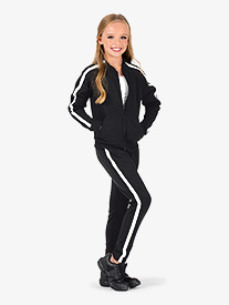 Girls Team Pull-On Striped Sweatpants