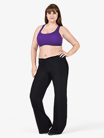 Adult Plus Size V-Front Boot Cut Pants