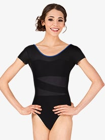 Adult Bolshoi Stars Collection Powermesh Short Sleeve Leotard