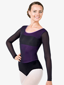 Adult Bolshoi Stars Collection Powermesh Long Sleeve Leotard